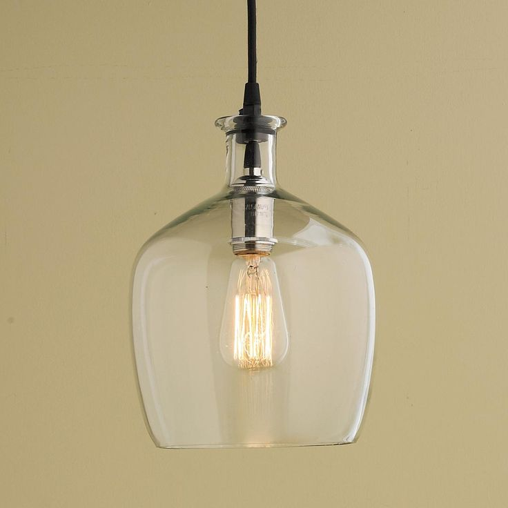 Small Carafe Glass Pendant Light