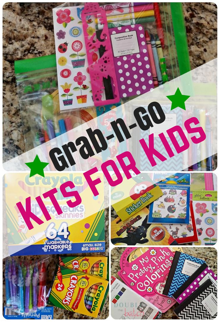 Craft kits for preschoolers - Diy Grab N Go Kits For Kids