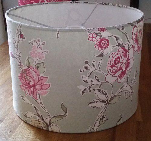Drum Lampshade Clarisse Sage Fabric