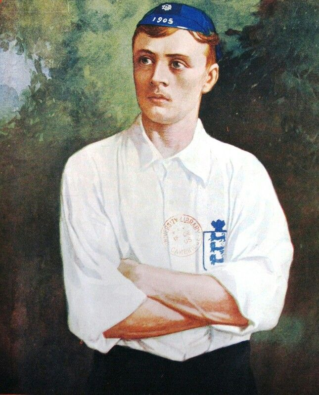 Steve Bloomer of England in 1905.