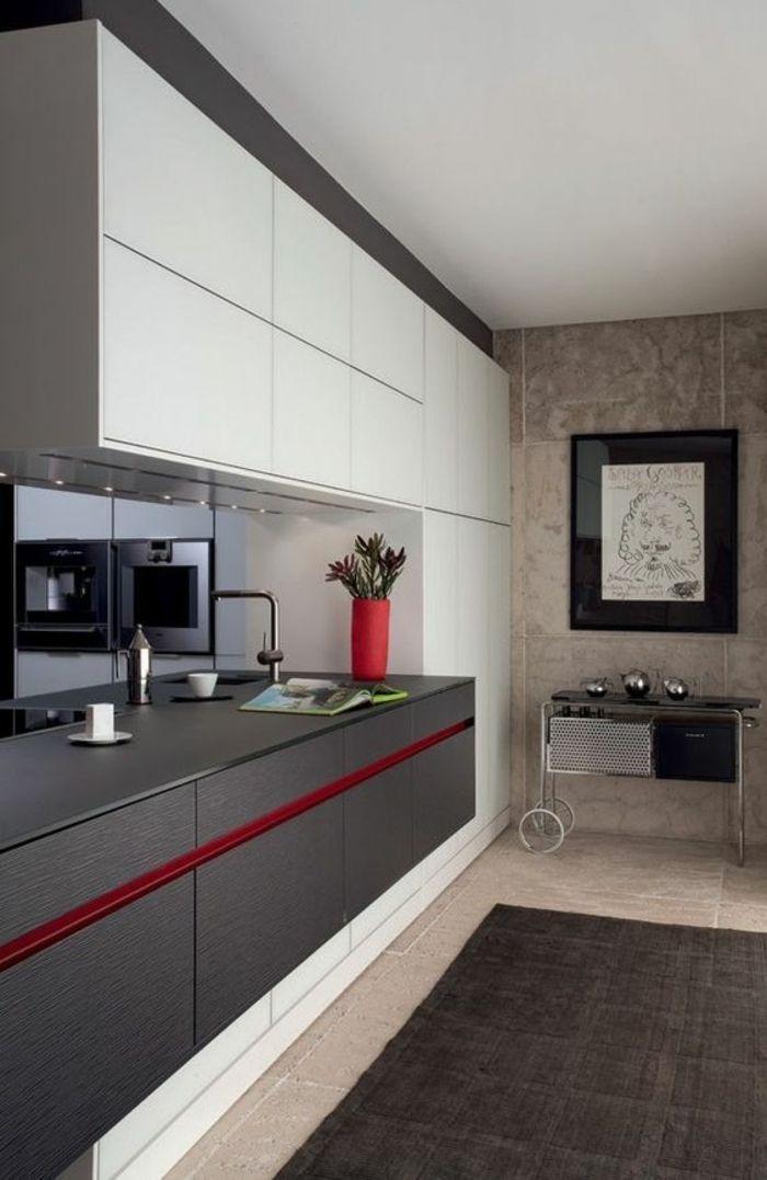 peinture pour meuble de cuisine quelle couleur pour les murs dune cuisine gris fonc et rouge meubles en blanc tapis gris sur revtement du sol en