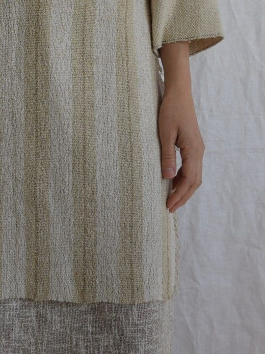 Mujo. by Elizabeth Leslie - Apron Skirt Handwoven Japanese silk www.mujostore.com