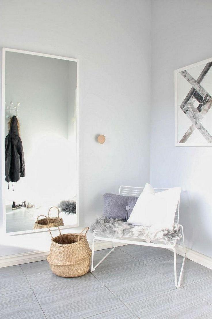 Inspirational gro er rechteckiger Wandspiegel mit wei em Spiegelrahmen