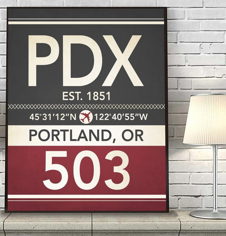 Portland Oregon PDX 503 Vintage Airport Area Code Map Coordinates Subway Art Print, UNFRAMED, Customized Colors, Christmas - Father's Day - Housewarming gift home decor poster, ALL SIZES. What a great way to celebrate where you live or love visiting with this vintage art print. This also makes a great housewarming gift for that special someone. With the map coordinates, establishing date, airport code, area code and CUSTOMIZED colors, this print is a perfect piece of wall decor. Simply…