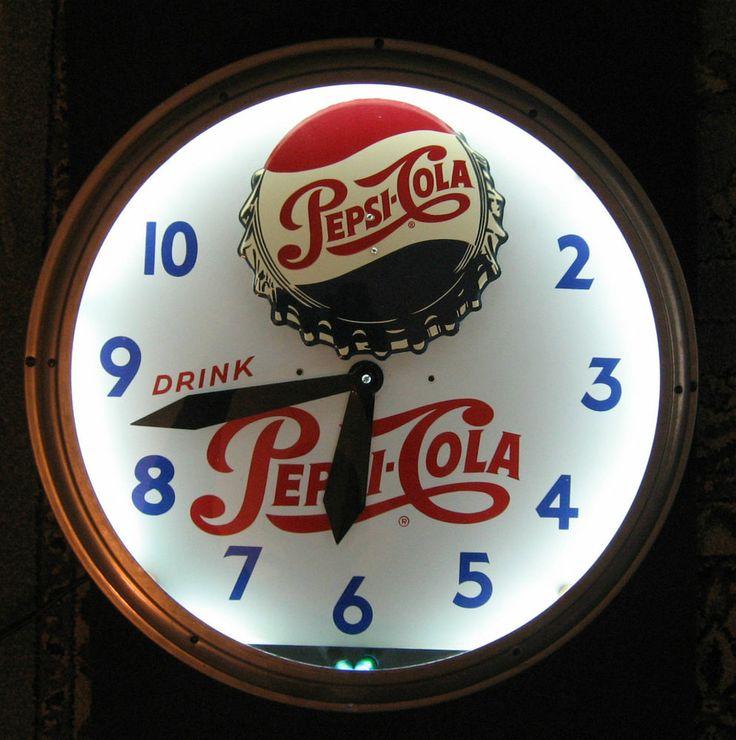 Original 1960 39 S Aluminum Glass Neon Tube Commercial Clock