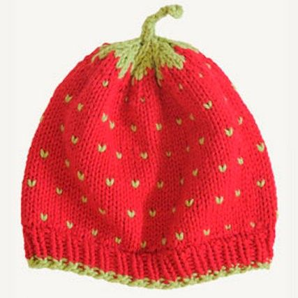 Spud and Chloe A Very Berry Fruit Hat Knitting Pattern | Baby Hat Pattern...free pattern