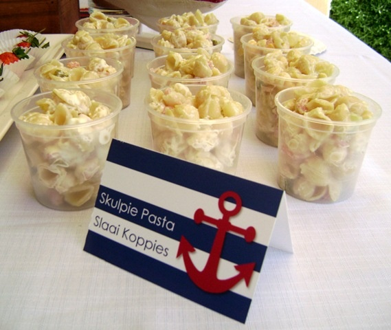 Nautical Baby Shower Themed Party See More Shell Pasta Cups