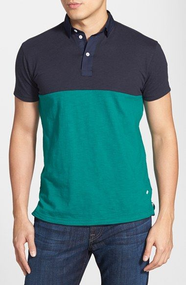 Descendant of Thieves Colorblock Slub Jersey Polo