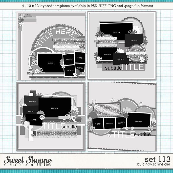 Cindy's Layered Templates - Set 113 by Cindy Schneider