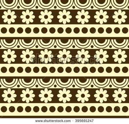 Ethnic geometric pattern - stock vector