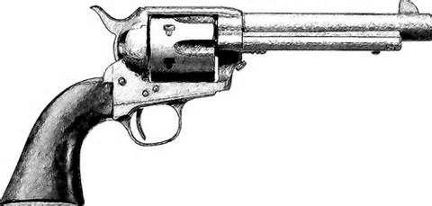 cattleman Old West OM55 Revolver Sketch
