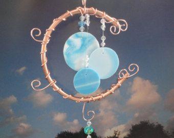 Luna cristal escultura arte de jardín por JewelsInTheGarden en Etsy