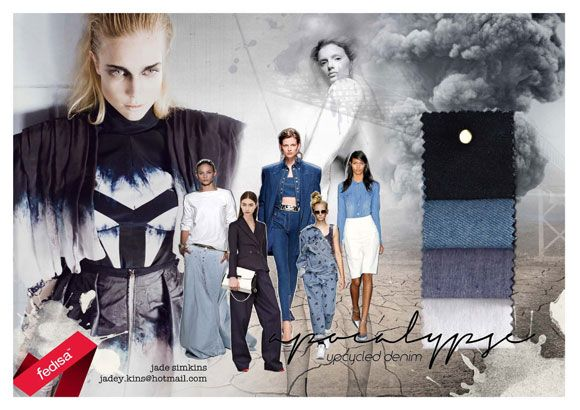 Avant Garde dress 2013 Top 10 Finalists | Live Eco. Design by Jade Simkins [2nd Year Student] #upcycle #denim