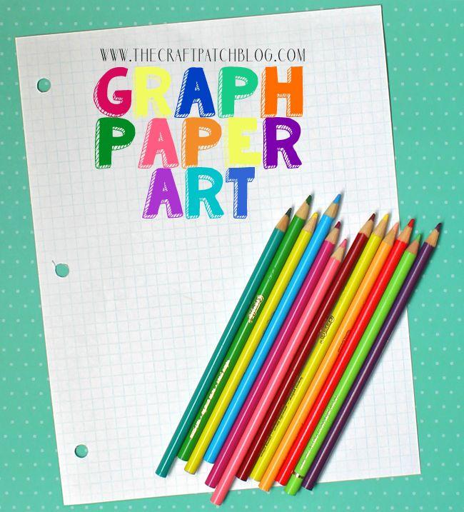 Einfache Millimeterpapierkunst für Kinder. Halten Sie sie mit nur einem Stück stundenlang unterhalten …   – Activities for Kids