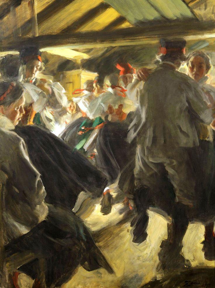 """** Anders Zorn, """"Dance in Gopsmor""""."""