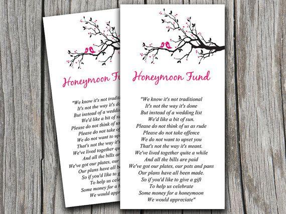 Love Birds Wedding Honeymoon Fund Card