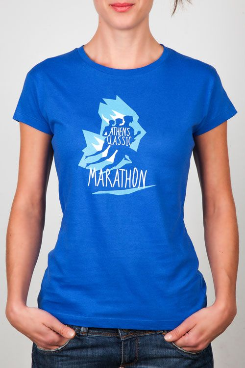 Women T-Shirts : Ladies Blue Tee - Graphic Design
