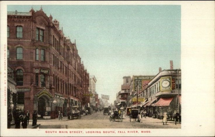 Fall River MA South Main St. - Dental Parlor Sign c1905 Postcard