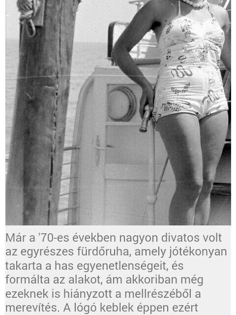 70-es évek divatja (egyrészes fűrdőruha)