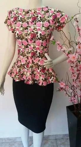 conjunto moda evangelica social executiva saia+blusa