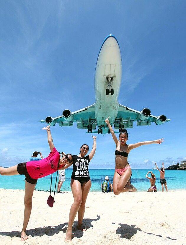 Maho Beach St Maarten #caribbean #stmaarten
