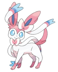 Sylveon...I can't believe they made a new type for this eeveelution! Fairy, wow.