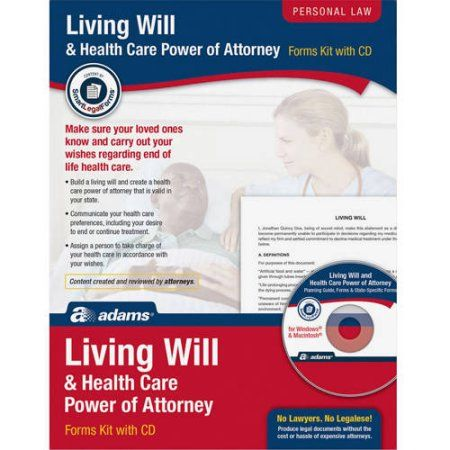Adams Living Will & Power of Attorney for Health Care Kit