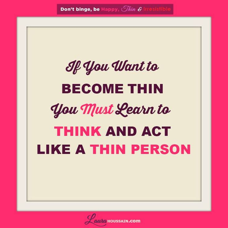 How to Think Like a Thin Person | Everyday Health