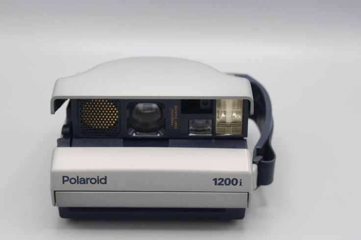 Polaroid Spectra 1200i Instant Film Camera Grey Blue Tested and Working  | eBay