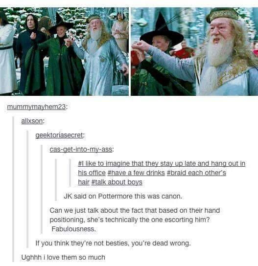 I just have to say, anything to do with McGonagall is amazing, because she's the best!