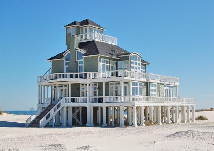 Fort Morgan Vacation Al This Is A Wonderful 3 Level Gulf Front Architect Designed Beach Home That Offers Plenty Of Privacy With 4000 Square