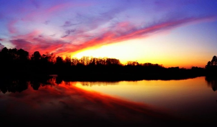 Bennett's Creek Sunset ~ At home in Suffolk, Virginia