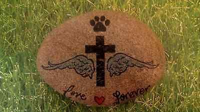 Pet-Memorial-Stone-Grave-Plaque-Headstone-Hand-Painted-2015