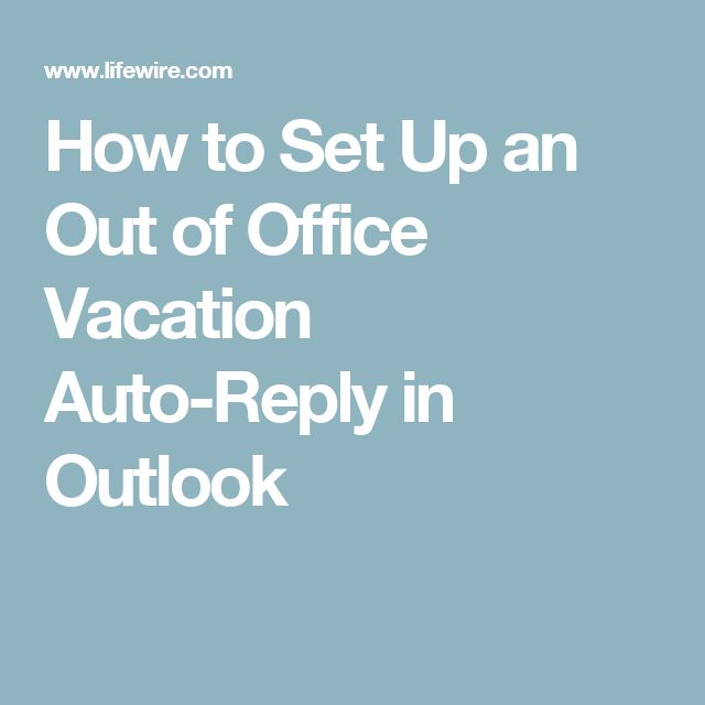 how to create outlook online out of office