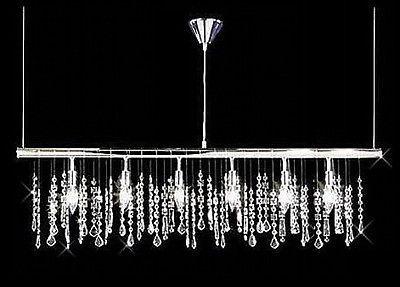 "30"" Pendant Crystal chandelier Linear Bar light Fixture w ..."