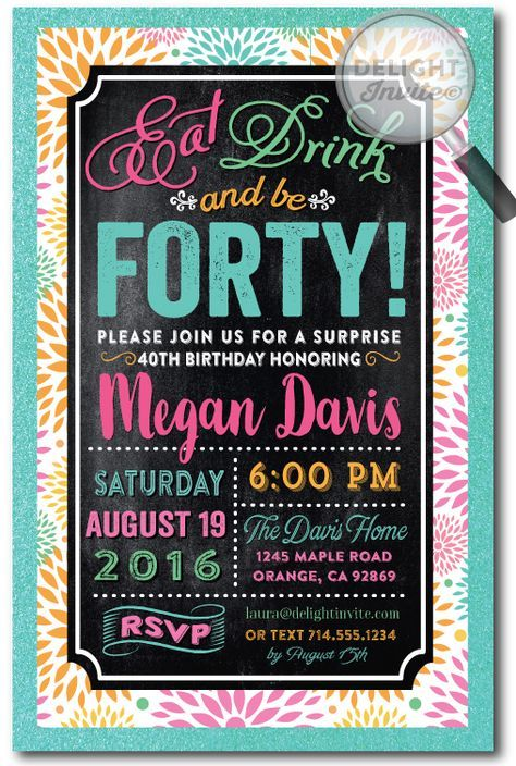 25+ best ideas about Birthday Invitations Adult on ...