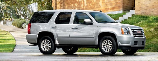 GMC Yukon Hybrid. I have to fit all my future kids in one car ;)