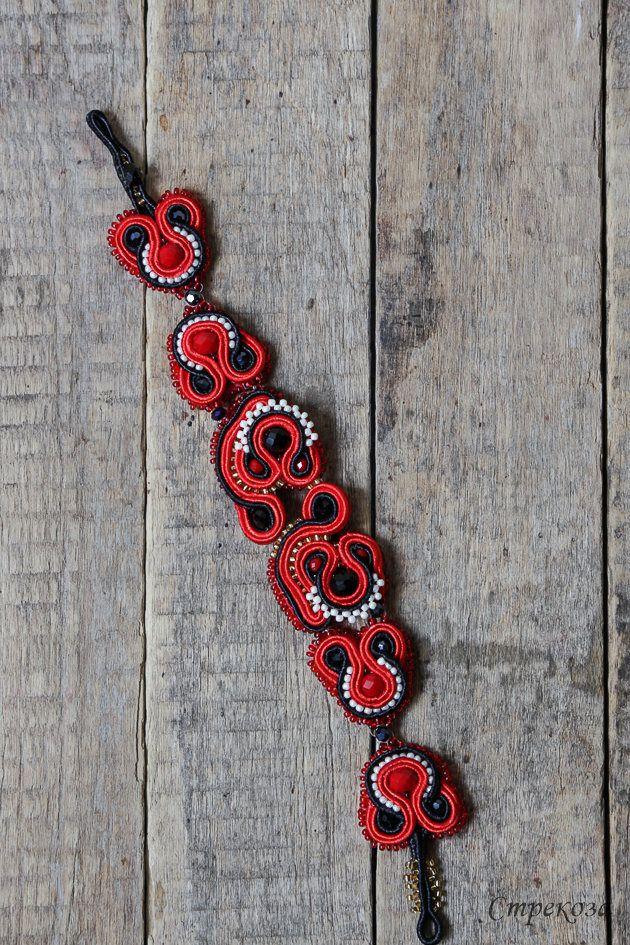 """Bracelet """"Red"""" - handmade by ARTSTREKOZAStore on Etsy"""
