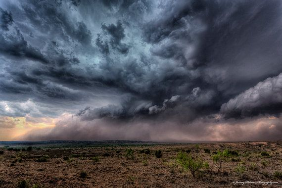 supercell thunderstorms | 8x10 Fine art print of a supercell thunderstorm in Texas