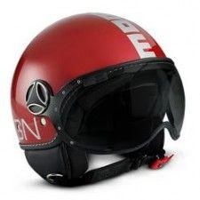 Casque Momo Design Fighter II Rouge Cerise argent #speedwayfr #speed #france #scooter #casque #red #casques