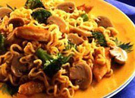 Mushrooms and Chicken with Ramen Noodles Recipe from Pillsbury.com