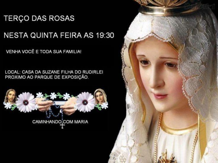 Terço das Rosas será realizado nesta quinta-feira, 23, às 19:30hrs