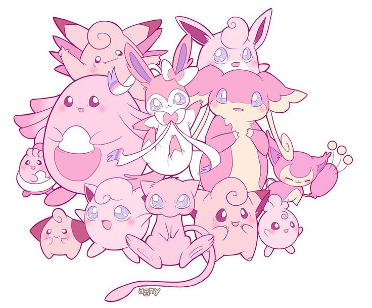 Kawaii pink Pokemon by LadyAgny on DeviantArt