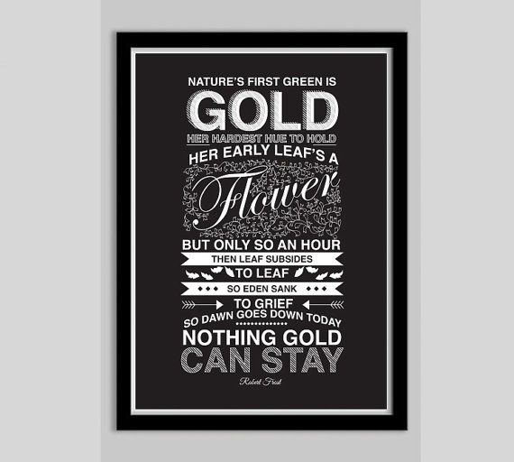 The Outsiders Movie Poster Robert Frost Poem - Movie Poster, Typography Print, Quote Print, Digital Art Print