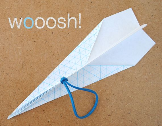 Catapult paper airplane - eco-friendly craft - simple and fun - the only other thing you need besides what is pictured is a stick!