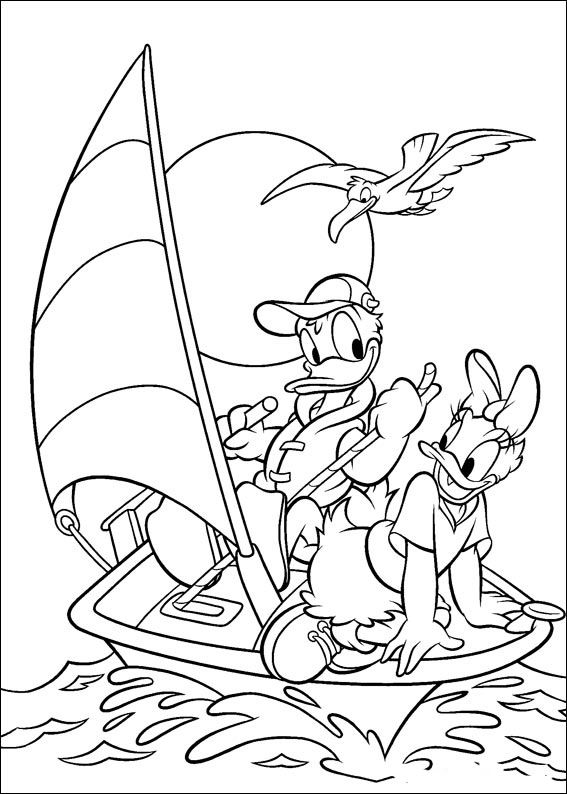 Donald Duck Coloring Pages 10
