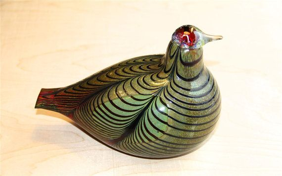 IITTALA Oiva Toikka Fasaani Bird Signed Limited by Scandinavian1st