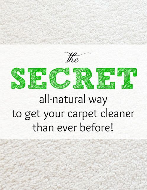 The Secret All Natural Way To Get Your Carpet Cleaner Than