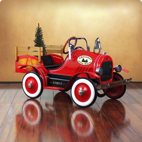 Delux Christmas Tree Delivery Truck Pedal Car Toys Kids Furniture Childrens