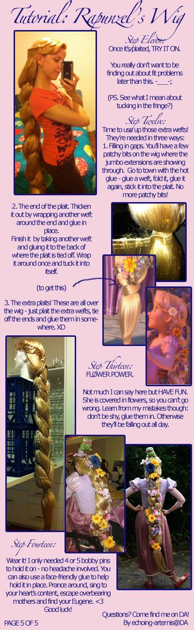 Rapunzel's wig tutorial